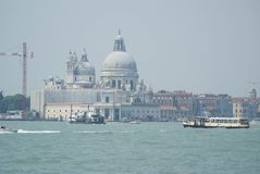Santa Maria della Salute - the view from Venice lagoon royalty free stock image