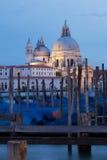 Santa Maria della Salutu kościół i gondole Fotografia Royalty Free