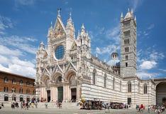 Santa Maria della Scala Cathedral em Siena fotografia de stock