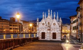 Santa Maria della Spina - Gocki kościół w Pisa Zdjęcia Royalty Free