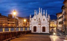 Santa Maria della Spina - gotisk kyrka i Pisa Royaltyfria Foton