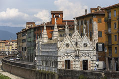 Santa Maria della Spina katedra, Pisa, Włochy Obraz Stock