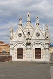 Santa Maria della Spina kyrka i Pisa, Italien Royaltyfria Foton
