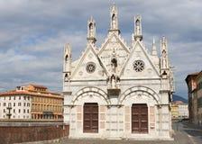 Santa Maria della Spina kyrka i Pisa, Italien Royaltyfri Foto