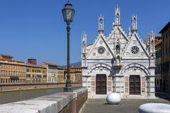 Santa Maria della Spina - Pisa - Italien Arkivfoto