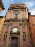 Santa Maria della Vita kyrka i bolognaen Arkivbilder