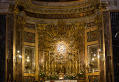Santa Maria della Vittoria/vår dam av victoryen/är en romare - katolskt titulärt kyrkligt hängivet till den jungfruliga Maryen i  royaltyfria bilder