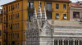 Santa Maria dellaspina domkyrka, Pisa, Italien Fotografering för Bildbyråer