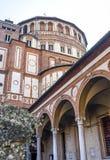 Santa Maria delle Grazie (Milan), cloister Stock Photography