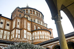 Santa Maria delle Grazie (Milan), cloister Royalty Free Stock Images