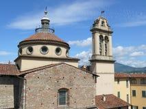 Santa Maria delleCarceri kyrka i Prato Royaltyfria Bilder