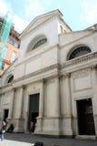 Santa Maria delleVigne kyrka i Genua, Italien royaltyfri fotografi