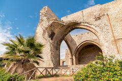 Santa Maria dello Spasimo Unfinished Church, is located in the Kalsa district, one of the oldest parts of Palermo, Italy Stock Photos