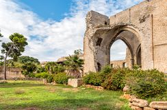 Santa Maria dello Spasimo Unfinished Church, is located in the Kalsa district, one of the oldest parts of Palermo, Italy Royalty Free Stock Photography