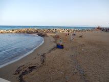Santa Maria di Castellabate - Punta de Inferno Beach immagine stock libera da diritti