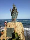 Santa Maria di Castellabate - staty av Santa Maria en sto fotografering för bildbyråer