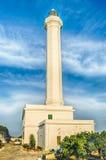 Santa Maria di Leuca iconic lighthouse, Salento, Apulia, Italy Stock Photos