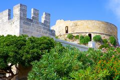 The architectures of Santa Maria di Leuca. Santa Maria Di Leuca, Italy, on ancient watchtower on the seafront Royalty Free Stock Photo