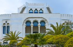 The architectures of Santa Maria di Leuca. Santa Maria Di Leuca, Italy, the famous villas of the nineteenth century, on the seafront Stock Photography