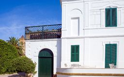 The architectures of Santa Maria di Leuca. Santa Maria Di Leuca, Italy, the famous villas of the nineteenth century, on the seafront Royalty Free Stock Photo