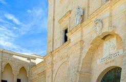 The architectures of Santa Maria di Leuca. Santa Maria di Leuca, Italy, the Sanctuary of St. Mary of Finibus Terrae Stock Images
