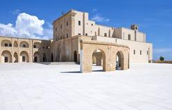 The architectures of Santa Maria di Leuca. Santa Maria di Leuca, Italy, the Sanctuary of St. Mary of Finibus Terrae Royalty Free Stock Photos