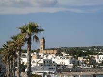Santa Maria di Leuca. Perspective of the town of Santa Maria di Leuca. Puglia - Italy Stock Image