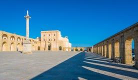 Santa Maria di Leuca Sanctuary, provincia di Lecce, Puglia, Italia del sud immagini stock