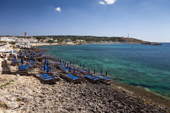 Santa Maria di Leuca village and bay Royalty Free Stock Image