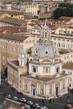 Santa Maria di Loreto, вид с воздуха Venezia аркады (Рима, Италии) Стоковое Изображение