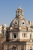 Santa Maria di Loreto Church. Rome, Italy. Dome. Stock Photo