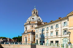 Santa Maria di Loreto church in Rome. Stock Image