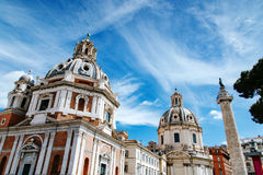 Santa Maria di Loreto na praça Venezia Fotografia de Stock Royalty Free