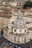 Santa Maria di Loreto, Piazza Venezia (Rome, Italy) aerial view stock image