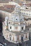 Santa Maria di Loreto, Piazza Venezia (Rome, Italy) aerial view Stock Photo