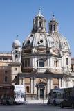 Santa Maria di Loreto, Piazza Venezia (Rome, Italy) Stock Photography