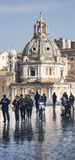 Santa Maria di Loreto, Piazza Venezia (Rome, Italy) vertical panorama Stock Images