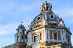 Santa Maria di Loreto que sorprende en Roma, Italia foto de archivo libre de regalías