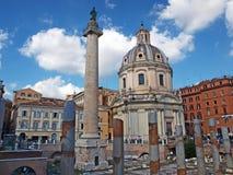 Santa Maria di Loreto, Rome Royalty Free Stock Photos