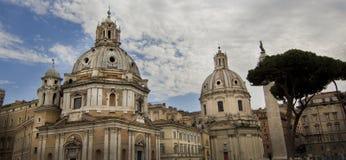 Santa Maria di Loreto, Rome, Italie image libre de droits