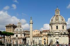 Santa Maria di Loreto, Rome royalty free stock photo