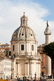 Santa Maria di Loreto and Trajan's Column Royalty Free Stock Image