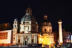 Santa Maria Di Loreto w piazza Venezia Obraz Royalty Free