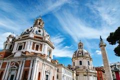 Santa Maria Di Loreto w piazza Venezia Fotografia Royalty Free