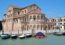 Santa Maria e Donato Basilica,Murano,Lagoon of Venice stock image