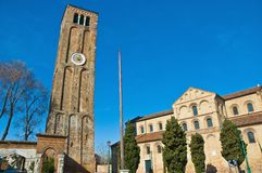 Santa Maria e Donato Church at Murano, Italy Stock Photos