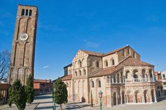 Santa Maria e Donato Church at Murano, Italy Stock Image