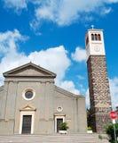 Santa Maria en wolken Stock Afbeelding