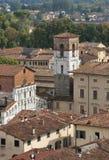 Santa Maria Forisportam church. Lucca, Italy . Stock Photos