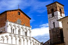 Santa Maria Forisportam church in Lucca. One of the many churches in Lucca, Italy royalty free stock photos